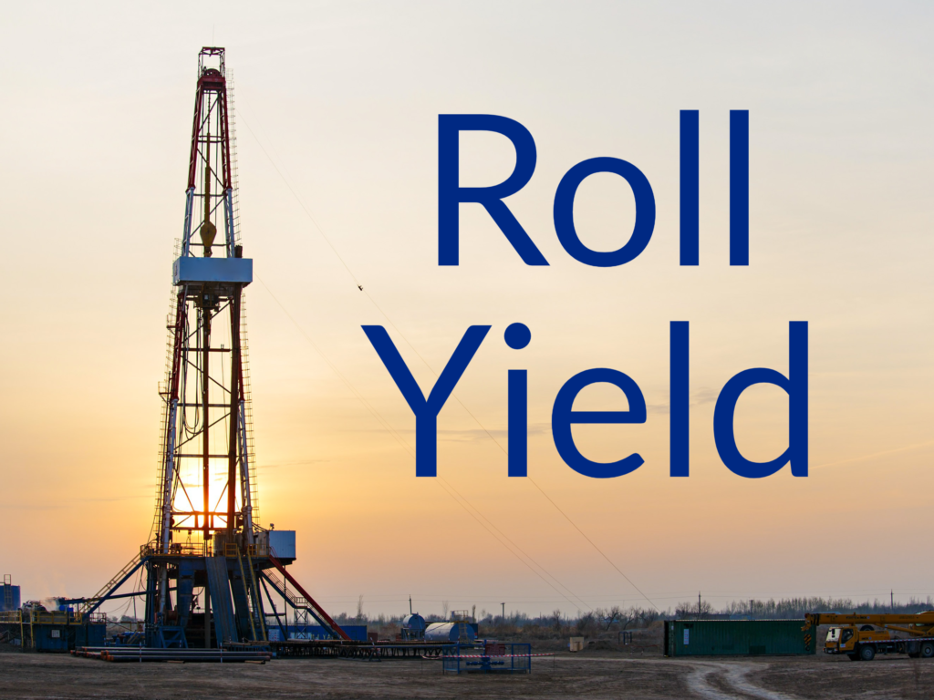 """Oil drill tower. Text says """"Roll Yield"""""""