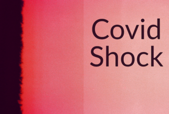 "Red and black background with words ""Covid Shock"""